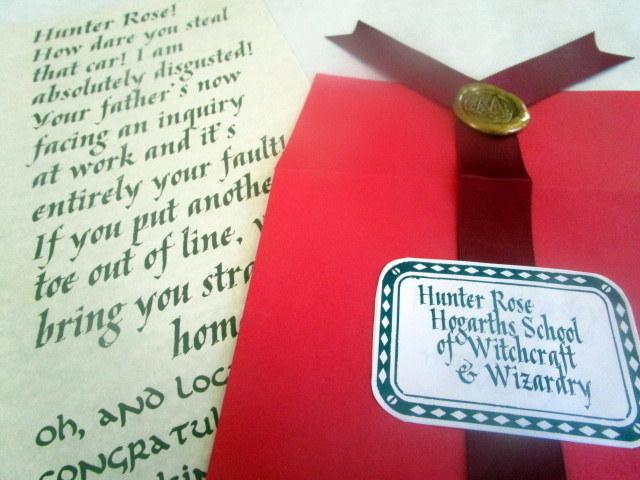 """Screaming"" Wizarding Letter in Red Envelope elf1038"