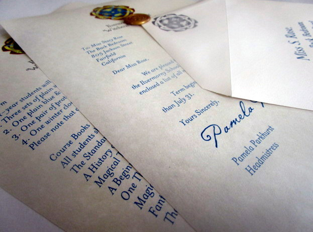 American Wizarding School acceptance letter