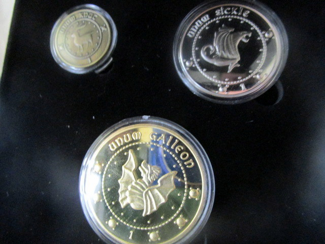 Set of 3 wizarding coins