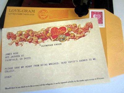 Love-Gram / Cupid Valentine Telegram