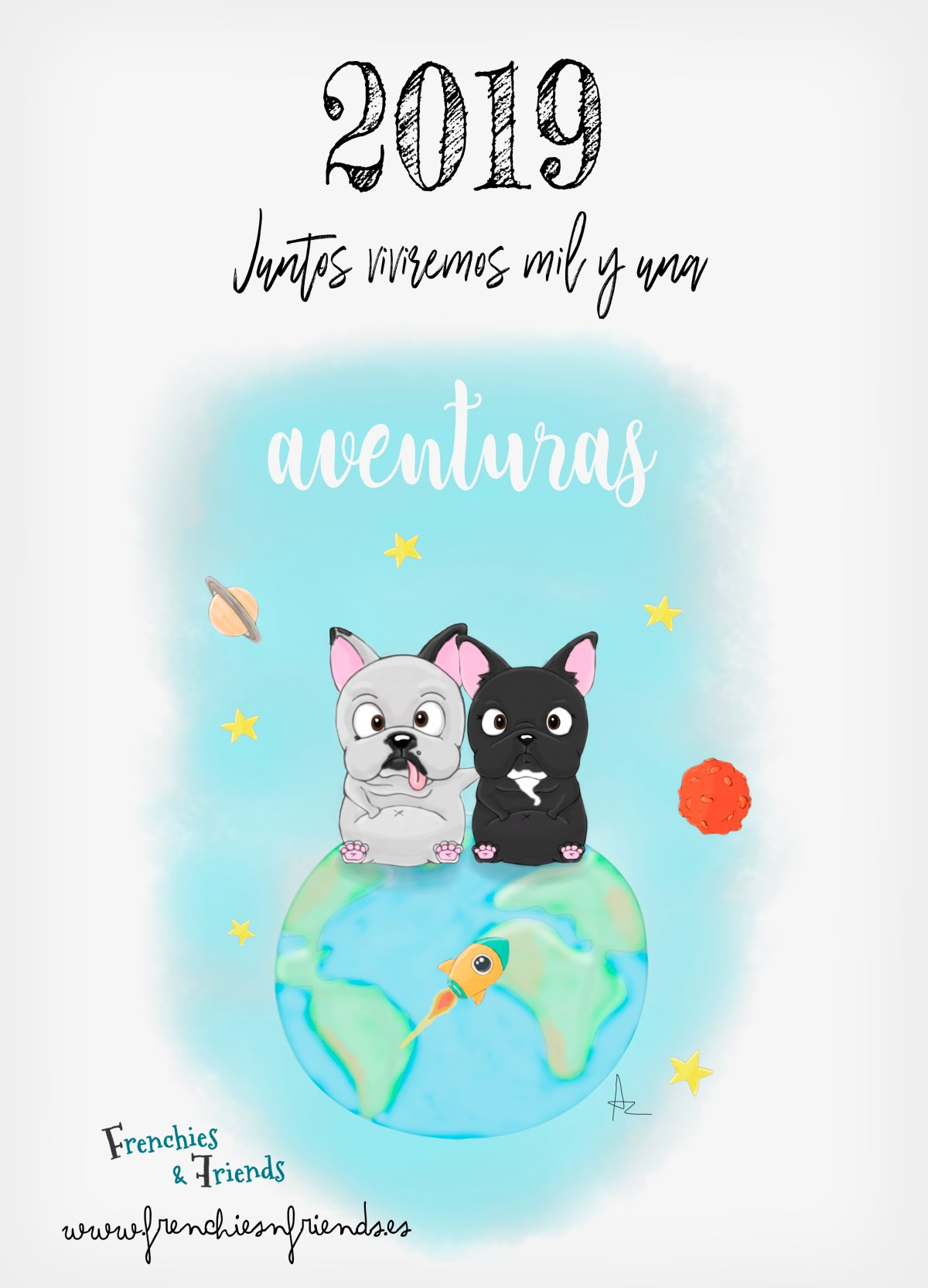 Calendario Frenchies & Friends 2019 CALENDARIO2019