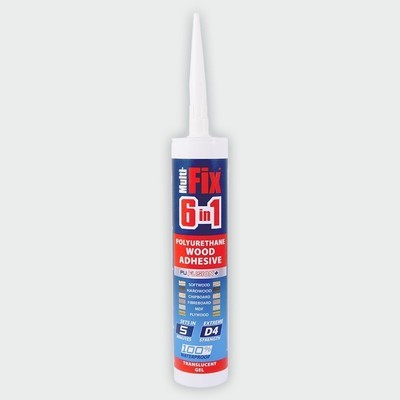 6in1 PU Wood Adhesive 5min Gel 310ml Interior & Exterior