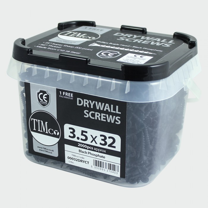 3.5mm x 32mm   Timco Drywall Screws in Buckets (Tubs) 2000 TIM-00032DRYCT