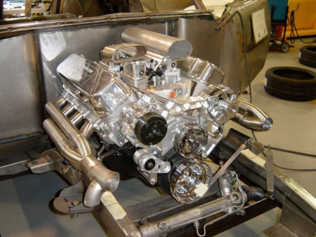 Twin turbo big block with 2149 mounts