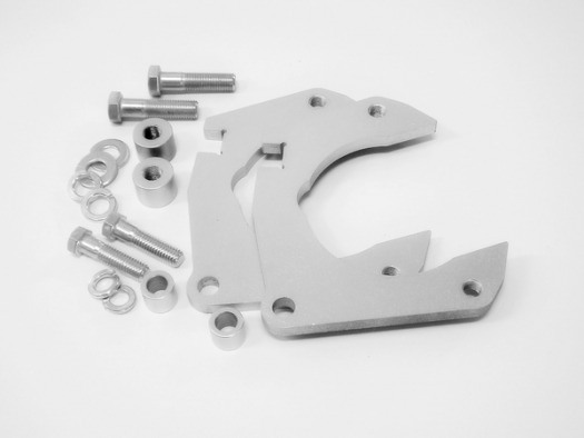 MUSTANG II CALIPER BRACKET KIT, for Granada rotors, ready to weld