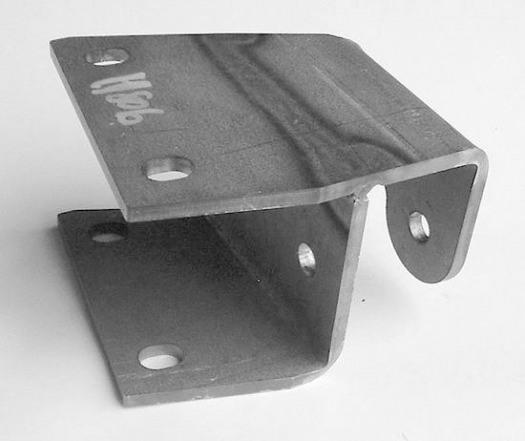 Pedal Frame Mount Plate, Bottom