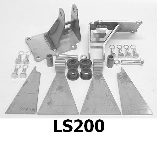 LS ENGINE MOUNT KIT - URETHANE INSULATED, ready to weld LS200
