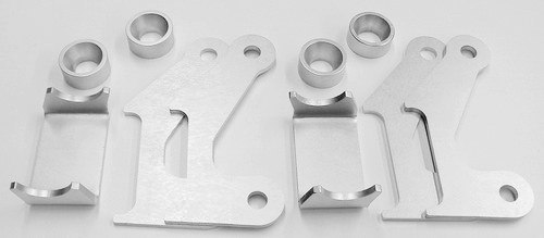 Axle bracket kit, front four link, ready to weld