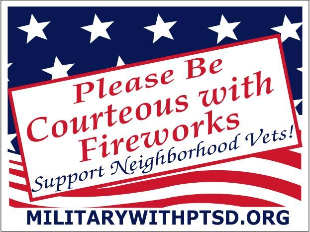 Firework Sign for Supporter of Veterans 00001