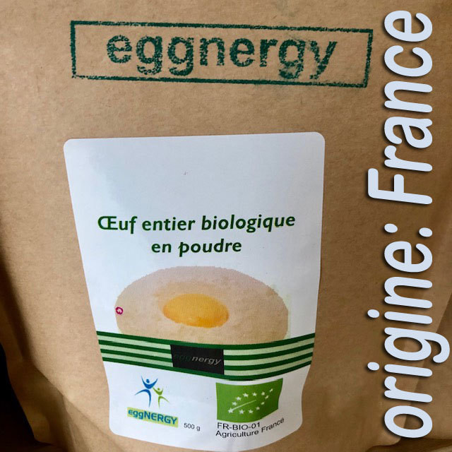 1200 g Code 0 Poudre d'oeuf entier bio