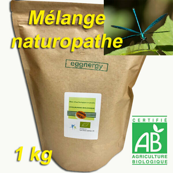 Mélange naturopathe: 1 Kg (60% Protéines sans sucre)