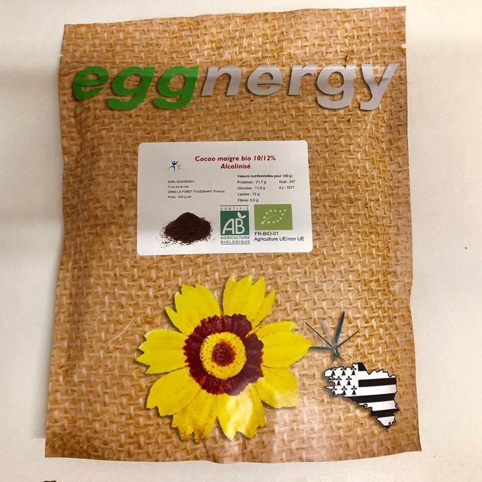Poudre de cacao maigre 90% et protéiné en 500 g