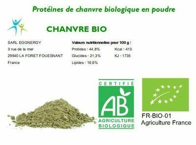 Protéines végétale bio NATURE en 1200g - Origine: France
