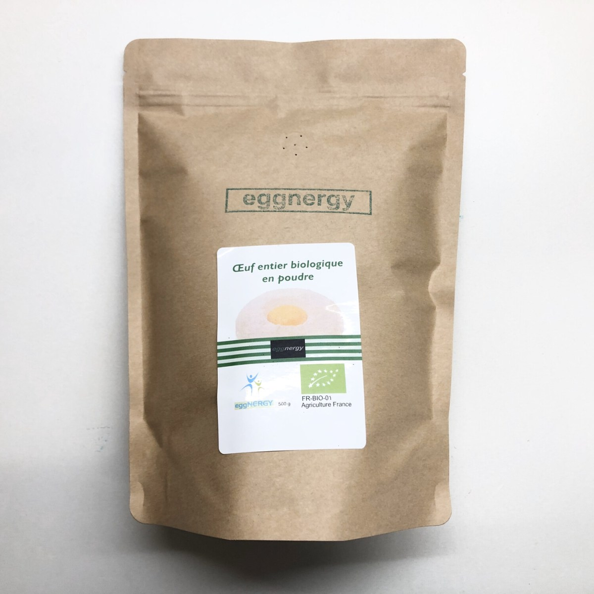 Oeuf entier bio en poudre: 1200 g