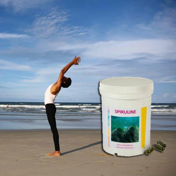 Spiruline: pot de 125 gélules