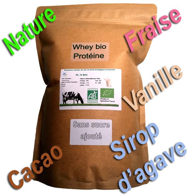 Par 1 kg  Whey Native bio NATURE (ou avec arôme bio: +2€) 00438
