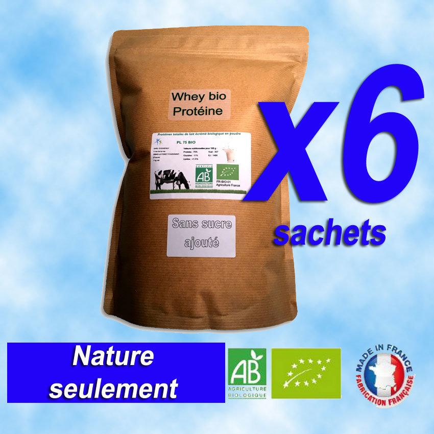 6Kg PL75 Protéine Lait Native Bio (origine: France) 00200