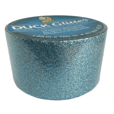 Duck Tape, Glitter Aqua (Blue) Sparkle Duct Tape