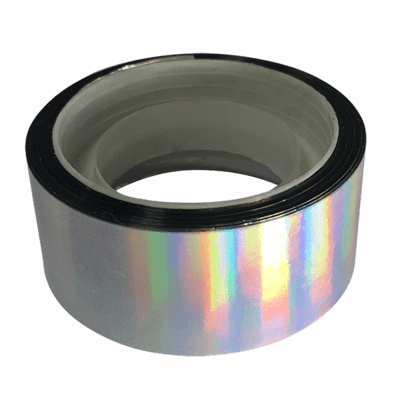 Budget Metallic Tape, Silver Rainbow Gleam