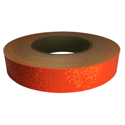Holographic Sequin Tape, Fluorescent Orange