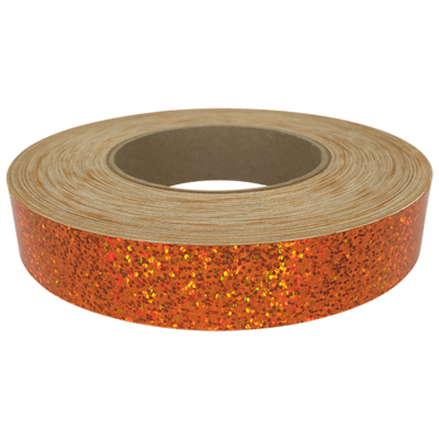 Holographic Sequin Tape, Orange Crush