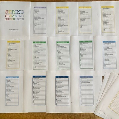 Cleaning Checklists, Room by Room (customizable)