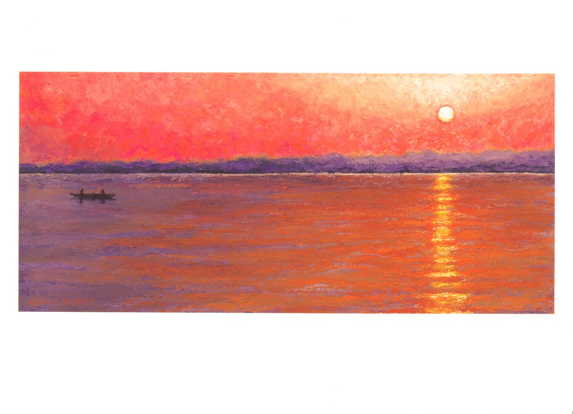 'Varanasi Sunrise' Notecard