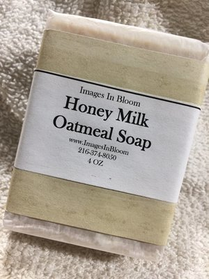 Honey Milk Oatmeal Castille Soap - very gentle on skin