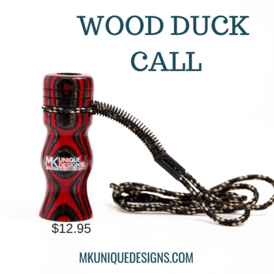 Wood Duck Call Made with Laminated colored wood