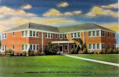 Cumberland Presbyterian Orphanage in Denton Texas Post Card