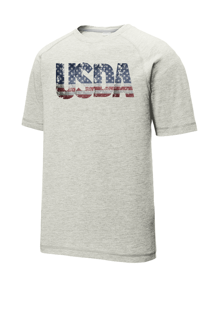 USDA America Grunge Tri-Blend Wicking Raglan Tee