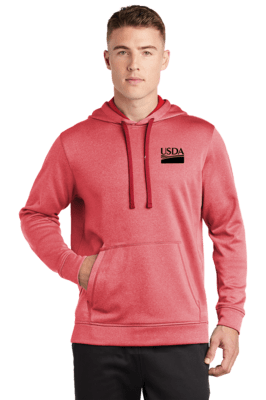 Sport-Tek ® PosiCharge ® Sport-Wick ® Heather Fleece Hooded Pullover