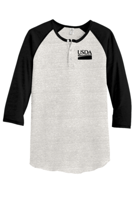 Unisex Alternative Eco-Jersey 3/4-Sleeve Raglan Henley