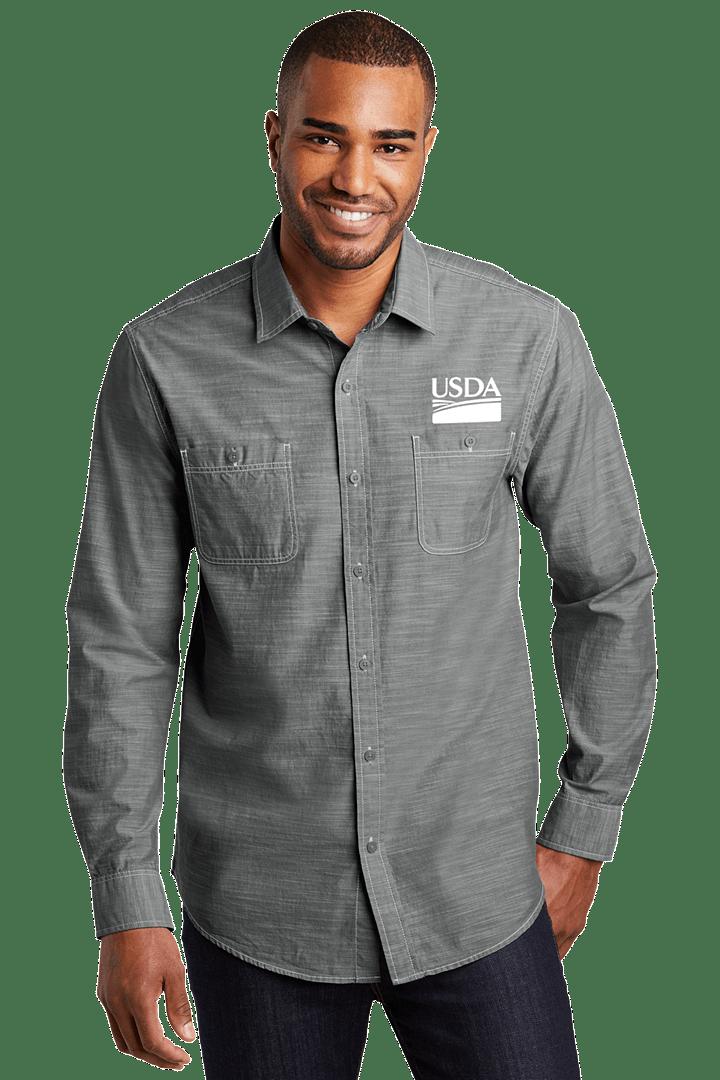 Men's Slub Chambray Shirt