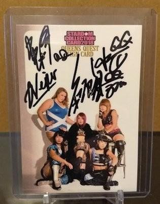 Queen's Quest (Io Shirai, Momo, AZM, Viper, and Hazuki) 2018 Stardom Autograph