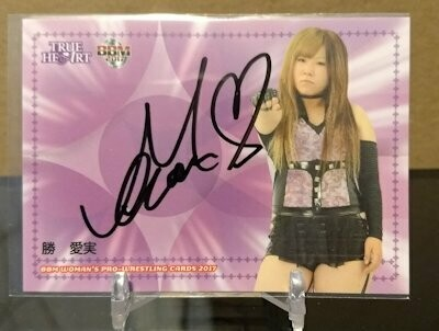 Manami Katsu 2017 BBM Joshi True Heart Autograph /95