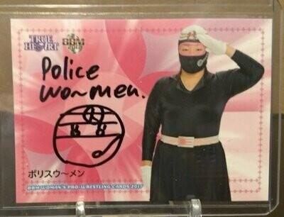 Police Woman (Yuki Miyazaki) 2017 BBM Joshi True Heart Autograph /95