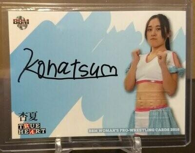 Konatsu 2018 BBM Joshi True Heart Autograph /90