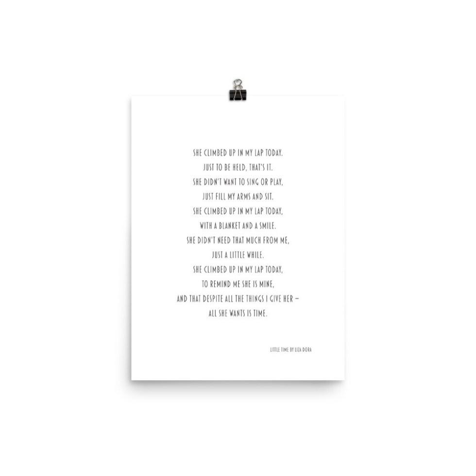 Little Time by Liza Dora (Matte Paper Poster)