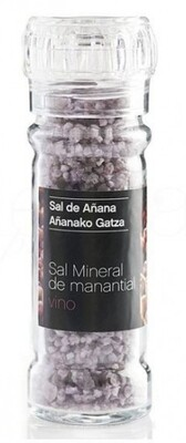 Molinillo de Sal mineral de Manantial con Vino, 75 g - Gourmet by Beites