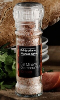 Molinillo de Sal mineral de Manantial con Tomate, 75 g - Gourmet by Beites