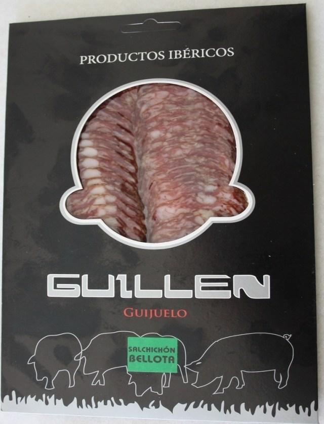 Loncheado Salchichón Ibérico Bellota - Peso aproximado: 100 g. GUILLEN-124