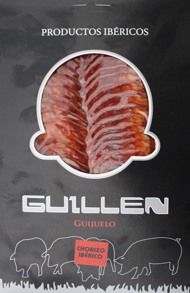 Loncheado Chorizo Ibérico Cebo - Peso aproximado: 100 g. GUILLEN-123