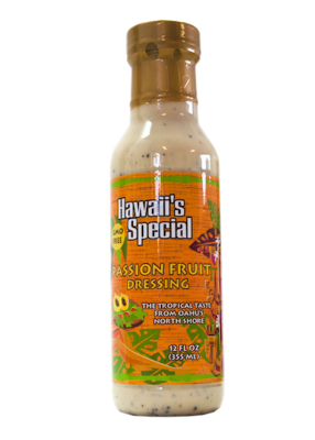 Passion Fruit Papaya Seed Dressing - GMO Free, 12 oz
