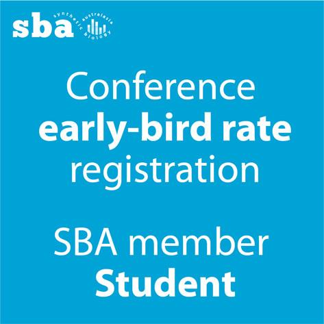 Student SBA member discount conference registration