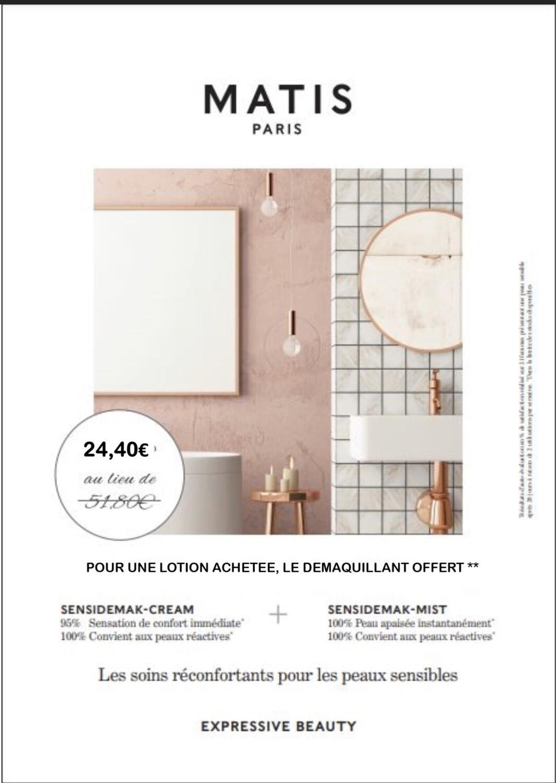 Lotion Tilleul Peau délicate + Crème Démaquillante Offerte/ 200ml