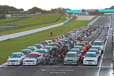 Official BMW 100 Year Celebration Photo from Phillip Island 20/8/2016