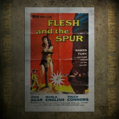 Flesh and the Spur Vintage Movie Poster