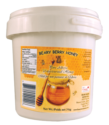 3 kg Pure Alberta Creamed Honey - Plain