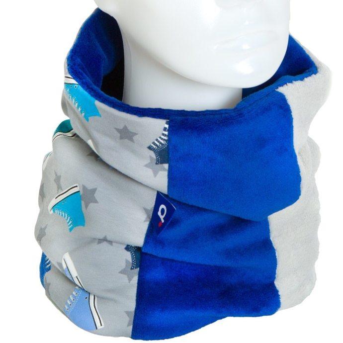Snood pour garçon lumineux doublé polaire bleu cobalt SH-17038-M